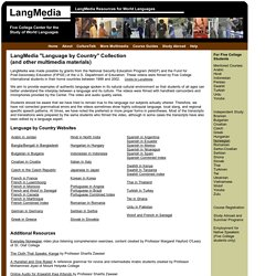 LangMedia: Resources for World Languages - Five College Center for the Study of World Languages