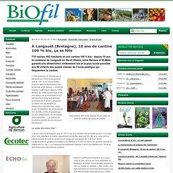À Langouët (Bretagne), 10 ans de cantine 100 % bio et local