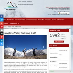 Langtang Valley Trek - Trekking in Nepal, Nepal Trekking Routes