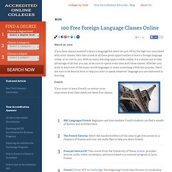 100 Free Foreign Language Classes Online | Accredited Online Colleges.com - StumbleUpon