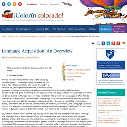 Language Acquisition: An Overview