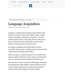 Language Acquisition Theory