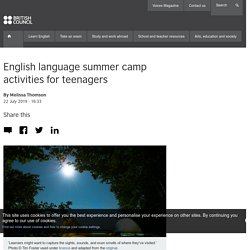 English language summer camp activities for teenagers