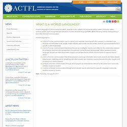 American Council on the Teaching of Foreign Languages