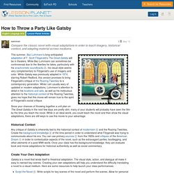 How to Throw a Party Like Gatsby - English Language Arts / Lesson Planet Articles - Lesson Planet Community Forums
