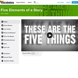 narrative elements song - Language Arts - Theme of Story - Flocabulary