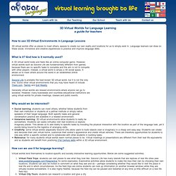 3D Virtual Worlds for Language Learning – a guide for teachers - AvatarLanguages.com
