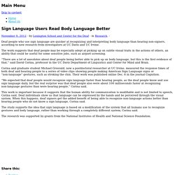 Sign Language Users Read Body Language Better