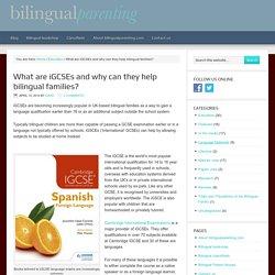 Language iGCSEs for bilingual families
