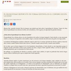 Spanish course online - El bilingüismo repercute de forma distinta en el cerebro según la edad