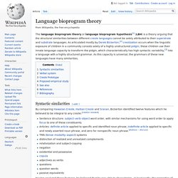 Language bioprogram theory