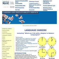 Language Careers