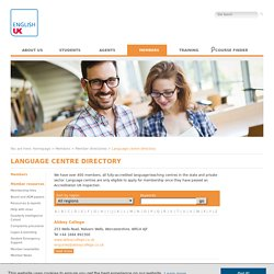 Language centre directory