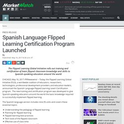 Spanish Language Flipped Learning Certification Program Launched