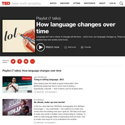 How language changes over time