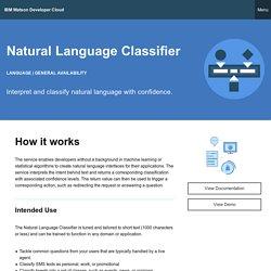 Natural Language Classifier