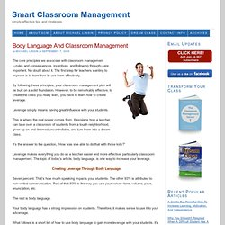 Body Language And Classroom Management