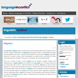 Language in Conflict - Negation