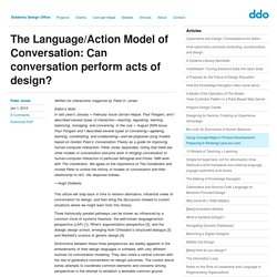 The Language/Action Model of Conversation: Can conversation perform acts of design?