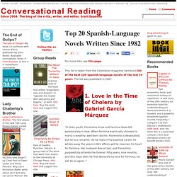 Top 20 Spanish-Language Novels Written Since 1982