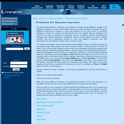Language Link Corporate Site. Problems for Russian Learners