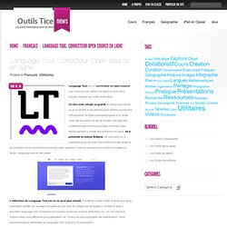 Language Tool. Correcteur Open source en ligne