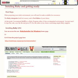 Free Ruby Language Course - First Steps