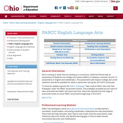 Ohio PARCC English Language Arts