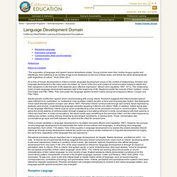 Language Development Domain - Child Development