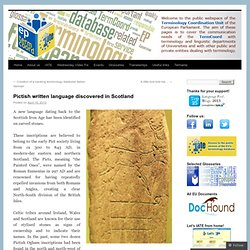 Pictish written language discovered in Scotland