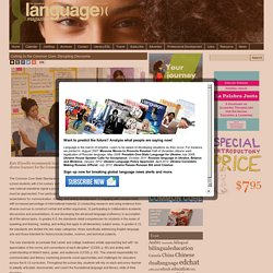 Language Magazine Cutting to the Common Core: Disrupting Discourse