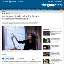 Are language teachers leading the way with education technology?