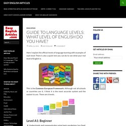 Guide to Language Levels