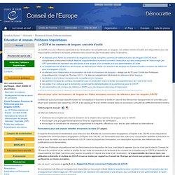 CE - CECR - examens de langues