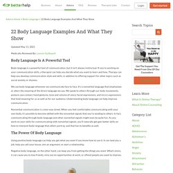 22 Body Language Examples And What They Show