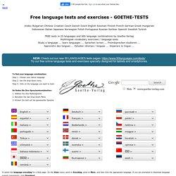 Goethe-Verlag - Tests et exercices de langues (EN-SP-D-FR)