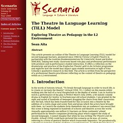 The Theatre in Language Learning (TiLL) Model: Exploring Theatre as Pedagogy in the L2 Environment
