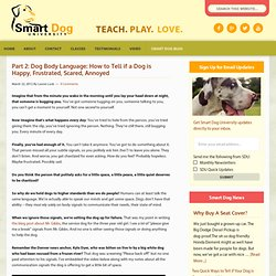 Part 2: Dog Body Language: How to Tell if a Dog is Happy, Frustrated, Scared, Annoyed - Smart Dog University