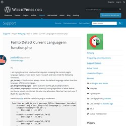 Topic: Fail to Detect Current Language in function.php « WordPress.org Forums