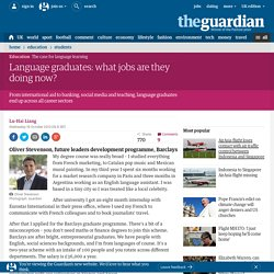 Language graduates: what jobs are they doing now?