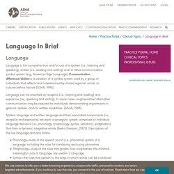 Language In Brief