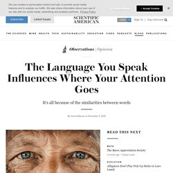 The Language You Speak Influences Where Your Attention Goes
