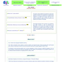 CLIL - Content and Language Integrated Learning- What is CLIL?