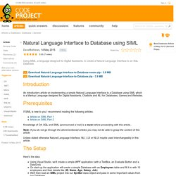 natural language interface thesis