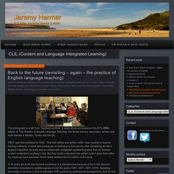CLIL (Content and Language Intergrated Learning)
