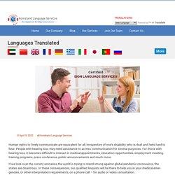 Sign Language Interpretation Services for all Medical Purpose in Boston