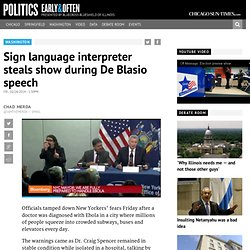 Sign language interpreter steals show during De Blasio speech