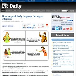 How to speak body language during an interview