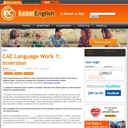 CAE Language Work 1: Inversion