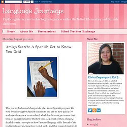 Amigo Search: A Spanish Get to Know You Grid